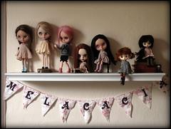 Happy Dolly Shelf Sunday! (Melacacia ) Tags: happy doll sunday july shelf pip blythe custom dolly 2014 zaloa jerryberry melacacia