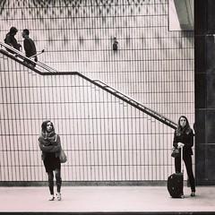 Le technicien de surface aimait se mettre devant les femmes pour mieux les observer. #mtl #montreal #quebec #urbanstory #bw #public #people #stm #metro #ri365_2014 #vt0614 #snapseed #instagramers #igerscanada #igersmontreal (Vannara) Tags: square squareformat mayfair iphoneography instagramapp uploaded:by=instagram