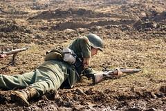 Reloading (MJ_100) Tags: show infantry germany wwii rifle battle german ww2 soldiers reenactment troops secondworldwar revival warandpeace wehrmacht karabiner kar98 kar98k