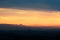 almosT (niK10d) Tags: sunset glow firenze manual duomo shilouette trespasserswilliam pentaxk10d asahitakumar135mmf25