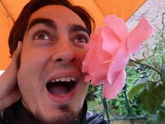 Flower in face