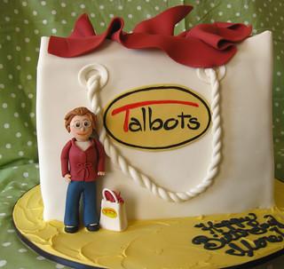 Talbots Mom Shopping bag cake med