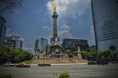 Golden Independance (Francisco Zarabozo Pineda) Tags: city sky architecture angel clouds composition landscape mexico photography gold cool nice arquitectura focus df quality like ciudad add hd reforma independencia oro buiding