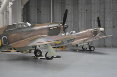 Historic Aircraft Collection Hurricane and Spitfire (Richard.Crockett 64) Tags: fighter hurricane ww2 duxford spitfire xii cambridgeshire raf hawker airfield vickers worldwartwo imperialwarmuseum mkv 2014 supermarine hac royalairforce 5547 ghuri gmkvb bm597 historicaircraftcollection