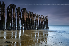 Woods Pillars perspective ... Saint-Malo ( France ) (Yannick Lefevre) Tags: ocean longexposure seascape storm france photoshop landscape nikon brittany raw nef tripod bretagne shore dxo paysage saintmalo manfrotto poselongue leefilters d700 yllogo nikkor1635mmf4 yannicklefevre||photography woodspillars