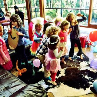 Dancing at Polly's Sixth Birthday