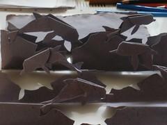 delfini3, Delphinidae, Dolphins (Marija Prelog) Tags: art animals paper illustrations dolphins kirigami delfin papir papercutting ivali ilistracije