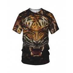 Tiger Face (stabilitees-com) Tags: face fashion animal top tiger tshirt wildanimal trend tee 3dprint alloverprint