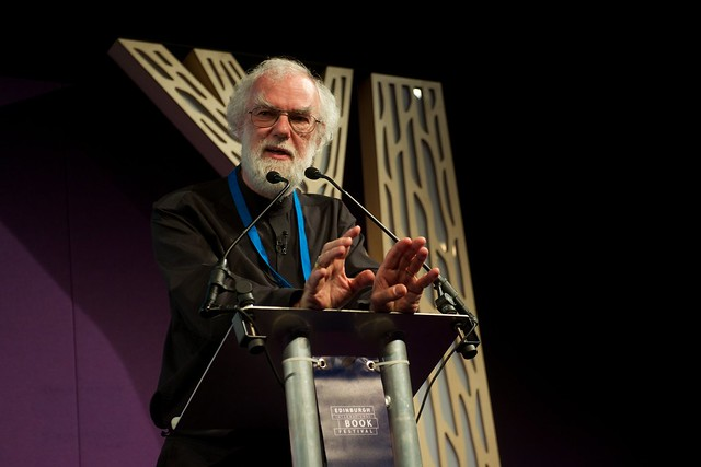 Rowan Williams takes part in the Principle of Religion event
