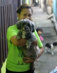 a woman and her dog (the foreign photographer - ) Tags: woman dog portraits thailand holding nikon bangkok khlong bangkhen thanon d3200 jul262014nikon