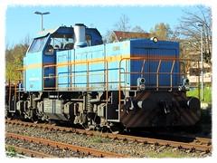 SWEG V102 (v8dub) Tags: railroad station train germany deutschland diesel gare eisenbahn railway zug bahnhof loco v locomotive 102 bahn allemagne trein lokomotive diesellok breisach abstellgleis gmeinder sweg badewrtenberg