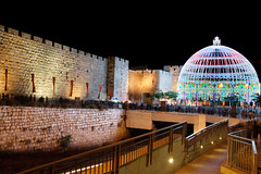 Jerusalem_Festival of Light_Old City_1_Noam Chen_IMOT (Israel_photo_gallery) Tags: light people festival israel events jerusalem festivaloflight event entertainment leisure recreation walls oldcity