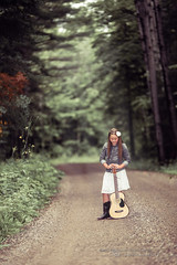 The Musician (Thousand Word Images by Dustin Abbott) Tags: road light portrait musician ontario canada girl beautiful female forest outdoors pembroke woods guitar country daughter fullframe cowboyboots petawawa narrowdepthoffield delineation dimensionality canoneos6d thousandwordimages dustinabbott dustinabbottnet tamronsp70200mmf28divcusd adobelightroom5 adobephotoshopcc metz64af1flash