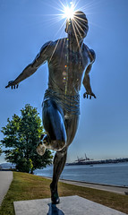 Harry Jerome Statue- Canadian Runner.jpg (Ryan Dyck) Tags: old blue brown canada art tourism fountain statue vancouver photoshop wow private spectacular lost photography amazing artist ryan creative sunny lagoon columbia historic seawall british stanleypark welcome gated rowingclub lightroom 2014 lordstanley dyck ryandyckphotography runnerharryjeromestarcarscityurbantotemnativetotemshdrredwhitegreenyellowstolotreesmountainslandscapevintagehistoriclovelyinteresting