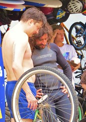 Avabeach 121 (danimaniacs) Tags: venice shirtless man hot sexy guy beach bike bicycle beard santamonica hunk wetsuit bulge avabeach