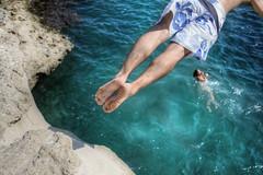 Malta 2011 (uchita.linda) Tags: beach swimming mar jump meer mediterraneo playa malta spiaggia piquero
