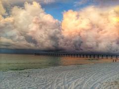 navarre pier glow (andylayton59) Tags: cloud storm beach kayak florida fl hdr navarre iphone 5s snapseed