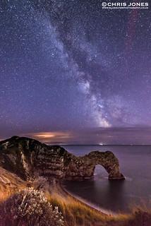 Milky Way over Durdle Door in Dorset
