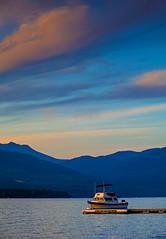 Little Buddy (stevenbulman44) Tags: pink sunset summer sky mountain lake color canon landscape boat ship britishcolumbia tripod scene gitzo shuswap 70200f28l 5dmarkii