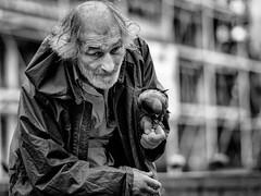 The pigeon man 2 (Nicolas Winspeare) Tags: world street city portrait bw black france photography google flickr m
