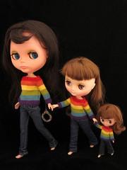 Rainbowed sisters!