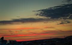 Sunset over Eweleaze Farm campsite (n.wilkinson29) Tags: camping sunset sky landscape coast tents farm dorset fields campsite orangered eweleaze