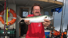 "Brian Moss with a very good Mackerel caught in West Bay Open • <a style=""font-size:0.8em;"" href=""http://www.flickr.com/photos/113772263@N05/15000431820/"" target=""_blank"">View on Flickr</a>"