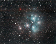 M45 (Lilwrighty) Tags: longexposure canon astro astrophotography m45 lincoln astronomy pleiades modded 450d astrotrac