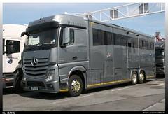 "Mercedes Benz Actros 2542 ""Pulleyn"" (uslovig) Tags: horse france truck mercedes benz frankreich lorry pferde mb calais transporter lastwagen lkw laster 2011 lastkraftwagen actros 2542 pulleyn equicruiser"