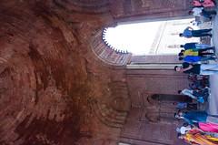 Delhi - Qutub Minar & A'lai Darwaza Dome Interior 2 (Le Monde1) Tags: india carved nikon vishnu delhi tomb columns courtyard mosque unesco worldheritagesite dome sultan hindu cloisters minar masjid qutubminar northernindia iltutmish alaidarwaza alauddinkhalji d7000 lemonde1 shamsuddiniltutmish vishnupada