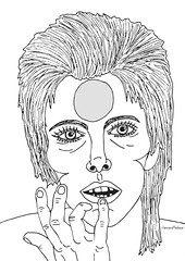 David Bowie (clareandthebear) Tags: musician music celebrity art illustration digital photoshop vintage sketch blackwhite bowie artwork 60s artist drawing famous icon retro 70s illustrator ziggy davidbowie monocrome ziggystardust aladdinsane thethinwhiteduke clareandthebear