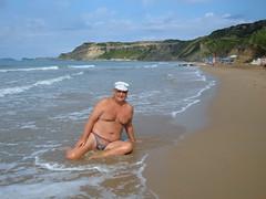 In the tide at Arillas (pj's memories) Tags: briefs speedos tanthru kiniki
