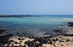 Calm day by the Sea (Ricky Reardon) Tags: blue sea beach sand pacificocean udo jeju basalt lavarock