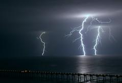 Striking (lightonthewater) Tags: ocean storm gulfofmexico pier thunderstorm lightning panamacitybeach lightonthewater