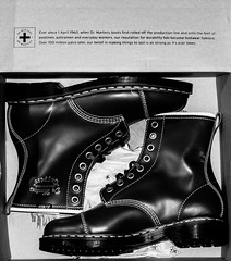 Doc Marten Cappers. Boxed. (CWhatPhotos) Tags: pictures camera new original red white black monochrome yellow digital that lens cherry four photography mono foto with hole image artistic pics box picture 8 pic olympus images holes have photographs photograph fotos micro stitching boxed sole doc marten which soles dm eight docs fit contain 43 bouncing airwair thirds martens dms oxblood em10 mft esystem capper cappers cwhatphotos olympusem10 inthevbox