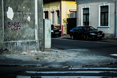 Side alley (Deathbyhugs) Tags: city corner europe romania bucharest bucuresti