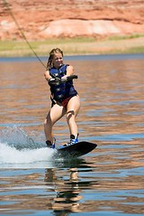 Sarah Eller Raleigh (sarahellerraleigh) Tags: life red vacation orange woman sun lake hot wet water girl sunshine sport rock stone female fun boats person utah sand colorful pretty wake skiing child desert plateau board canyon glen jacket national area boating teenager powell waterskiing recreation wakeboarding activity swimsuit arid boarding