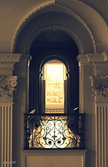 Backlit Balcony (Wipeout Dave) Tags: house building architecture hall arch balcony backlit nationaltrust northyorkshire beningbroughhall wipeoutdave davidsnowdonphotography djs2015