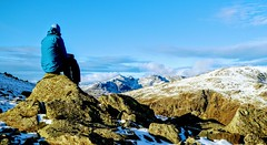 DOW CRAG, LAKE DISTRICT (pajacksonartist) Tags: dow crag lake district national park lakedistrict lakedistrictbid lakeland landscape mountain mountains mountainside walker hiker contemplation snow stunning cumbria england