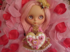 May your Valentine's Day be filled with LOVE!!!! (Primrose Princess) Tags: valentine happyvalentinesday blythe doll customblythe pink love princess alpacareroot cosette romance blythedoll