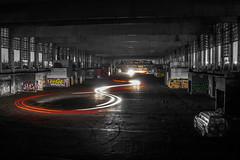 Night drifting II (ferenckobli) Tags: ruined drift car night lights budapest