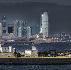 Barge Off Jersey City (PAJ880) Tags: jersey city nj barge new york harbor staten is ferry pm light