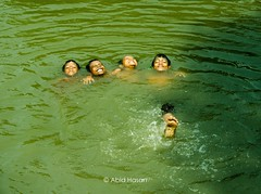 Boyhood (Landscape | Nature | Lifestyle) Tags: boy boyhood water relax relaxation boys swim pond green enjoying wave dslr abidhasan abidhasan00 village life swimming saarc ngc