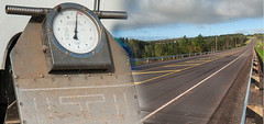 Highway scales and highway combination (Government of Prince Edward Island) Tags: scale highway heavyequipment tractortrailer trucks weightrestriction weight