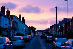 parker street (downhamdave) Tags: road street uk houses sunset england urban west cars canon 50mm town raw parker walsall midlands bloxwich elements10