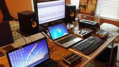 Recording with Nick Glenn of Crimson Flow
