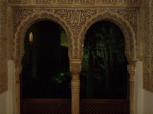 Dark window, Alhambra, Granada