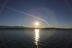 Sunset from Hood Canal (E li s a beth) Tags: sunset lensflare hoodcanal