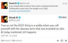 Chuck D Mistakingly Accues Iggy Of Saying The N Word After Viewing A Fake Caption On A  Picture (Pink Fiya Magazine) Tags: pink news magazine word iggy d n chuck hi azalea hop hazing blast exclusive fiya