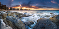 Manly (Mike Hankey.) Tags: sunset panorama beach published manly